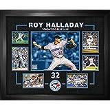 Frameworth Roy Halladay Framed 7 Photo Collage Blue Jays, One Size, Black