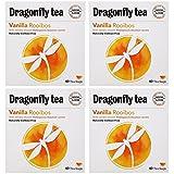 (4 PACK) - Dragonfly Tea - Vanilla Rooibos Tea | 40 Bag | 4 PACK BUNDLE