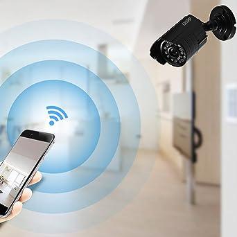 LESHP Cámaras de Vigilancia 4CH AHD 720P Cámara Video Vigilancia Cámara de Seguridad Exterior DVR / HVR / NVR Impermeable Cámara Bala de Vigilancia Soporte ...