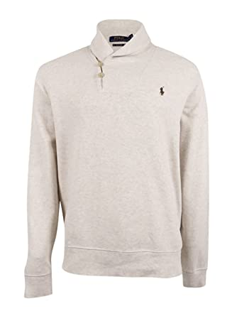 Polo Ralph Lauren Men\u0027s Ribbed Shawl Pullover (XS, Faded Cream)