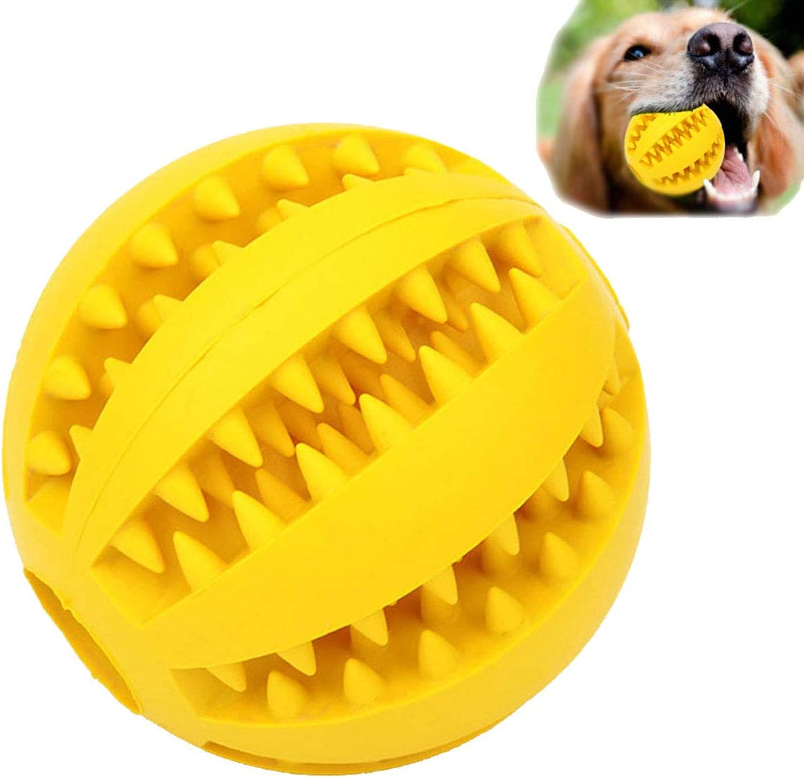Dog Toy Ball, Nontoxic Bite Resistant Toy Ball for Pet Dogs Puppy Cat, Dog Pet Food Treat Feeder Chew Tooth Cleaning Ball Exercise Game IQ Training Toy Ball,Large / Medium / Small Dogs Toy.