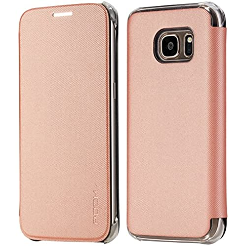 S7 Case, Galaxy S7 Case, ROCK MOOST [Veena Series ] Slim Synthetic Leather Flip Case for Samsung Galaxy S7 (Rose Sales