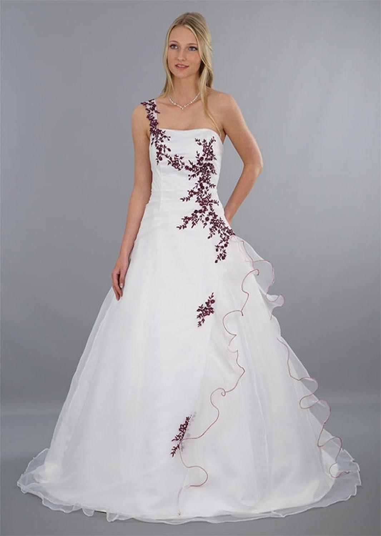 Schmetterling Brautkleid Damen mit bezaubernde Blumen-Stickereien in ...