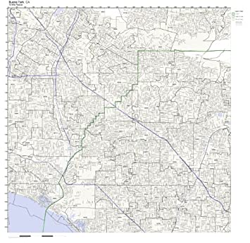 Amazon.com: Buena Park, CA ZIP Code Map Laminated: Home & Kitchen