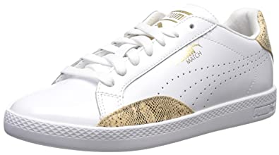 PUMA Women s Match lo PNT Snake WN s Tennis Shoe White Gold 28f035200