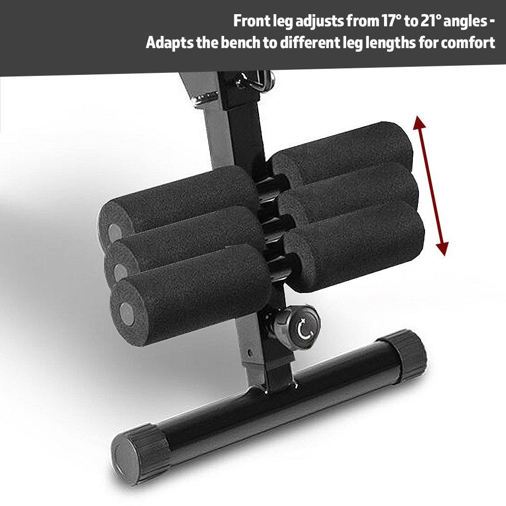 Black Marcy Pro EasyBuild Adjustable Weight Bench Folding One Size