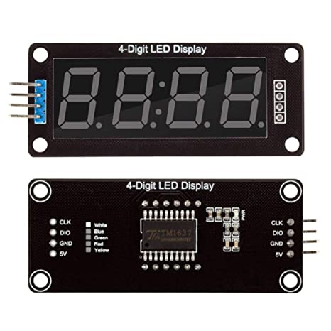 Candyboom 0.56 TM1637 4Bit Digital LED Tubo de Reloj de ...