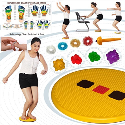 Acupressure Pyramid Twister for Figure Tone-up, Spine Fitness, Abs Triming FREE ACU TOOL, SUJOK RING, ACUPRESSURE THUMB & SUJOK BALL by Super India