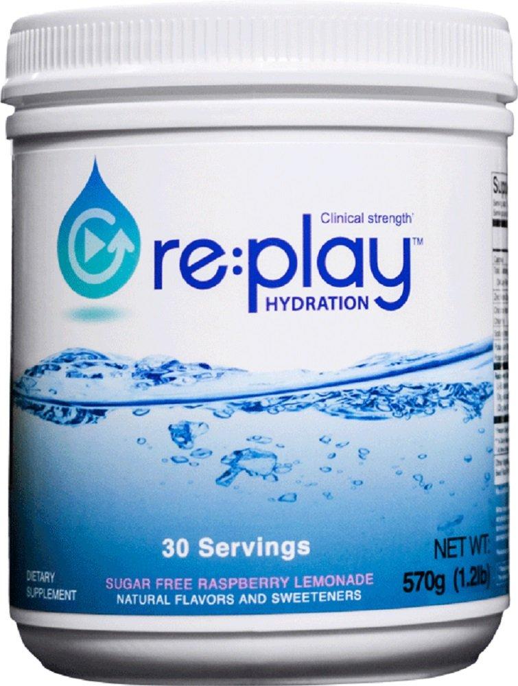 Re:Play Hydration Recovery Drink Powder, Raspberry Lemonade - 570g tub, 30 servings