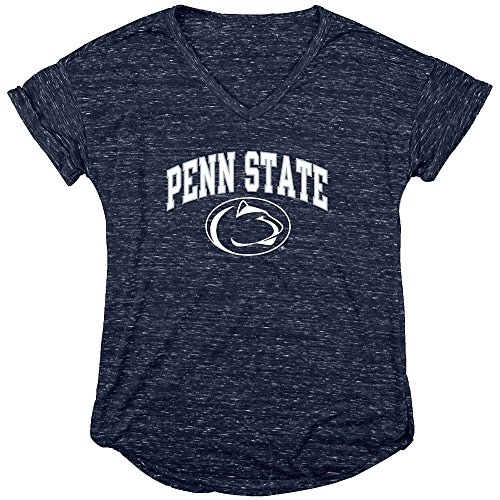 Penn State Nittany Lions Womens Vneck Tshirt Navy   S