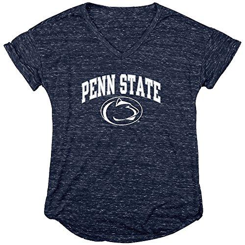 Penn State Nittany Lions Womens Vneck Tshirt Navy   S