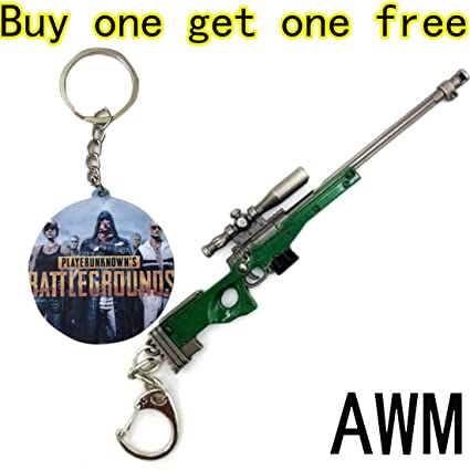 Playerunknowns Battlegrounds Weapon Pubg Collection Chicken Dinner Gunkey Chain Awm
