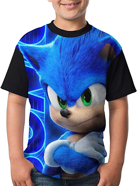 Kid//Youth So-nic The Hedg-ehog T-Shirts 3D Print Short Sleeve Graphics Tees for Boys Girls