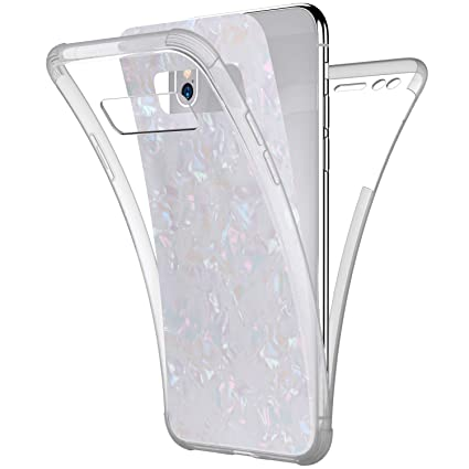 Compatible with Samsung Galaxy Note 8 Case,PHEZEN Sparkle Bling Crystal Clear Bumper TPU Silicone Rubber Back Cover Slim Fit Shockproof 360 Full Body ...