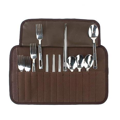 Juego cubiertos acero inoxidable 12 piezas, kit de ...