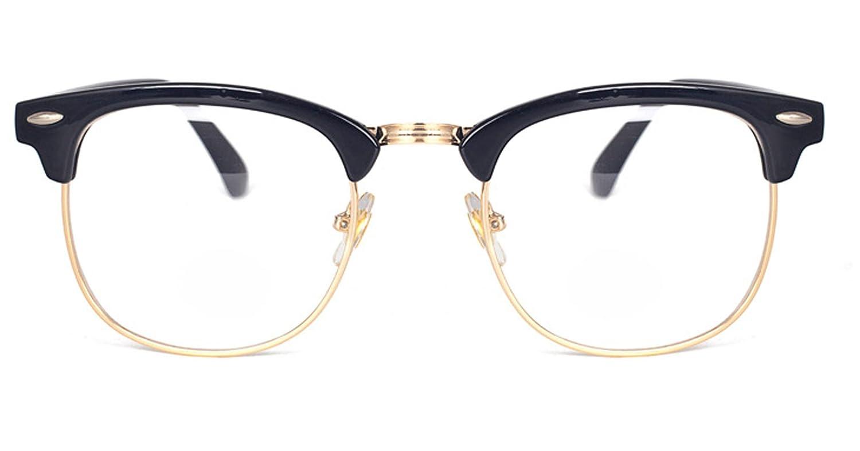Retro Gafas y de sol Unisex 10679 Classic Half Frame Marco Flash ...