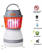 [Upgraded] Mosquito Lamp - AVJONE 4 Light Modes Quiet Bug Zapper Portable IPX67 Waterproof Mosquito Zapper Outdoor LED Lantern Rechargeable Mosquito Light with USB Cable
