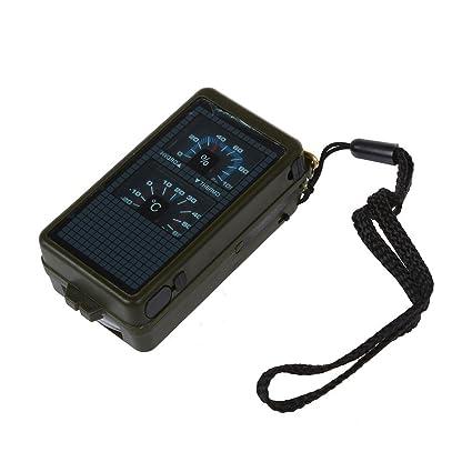 SODIAL(R) 10 en i Brujula Multifucion Outdoor Linterna Termometro Lupa etc.
