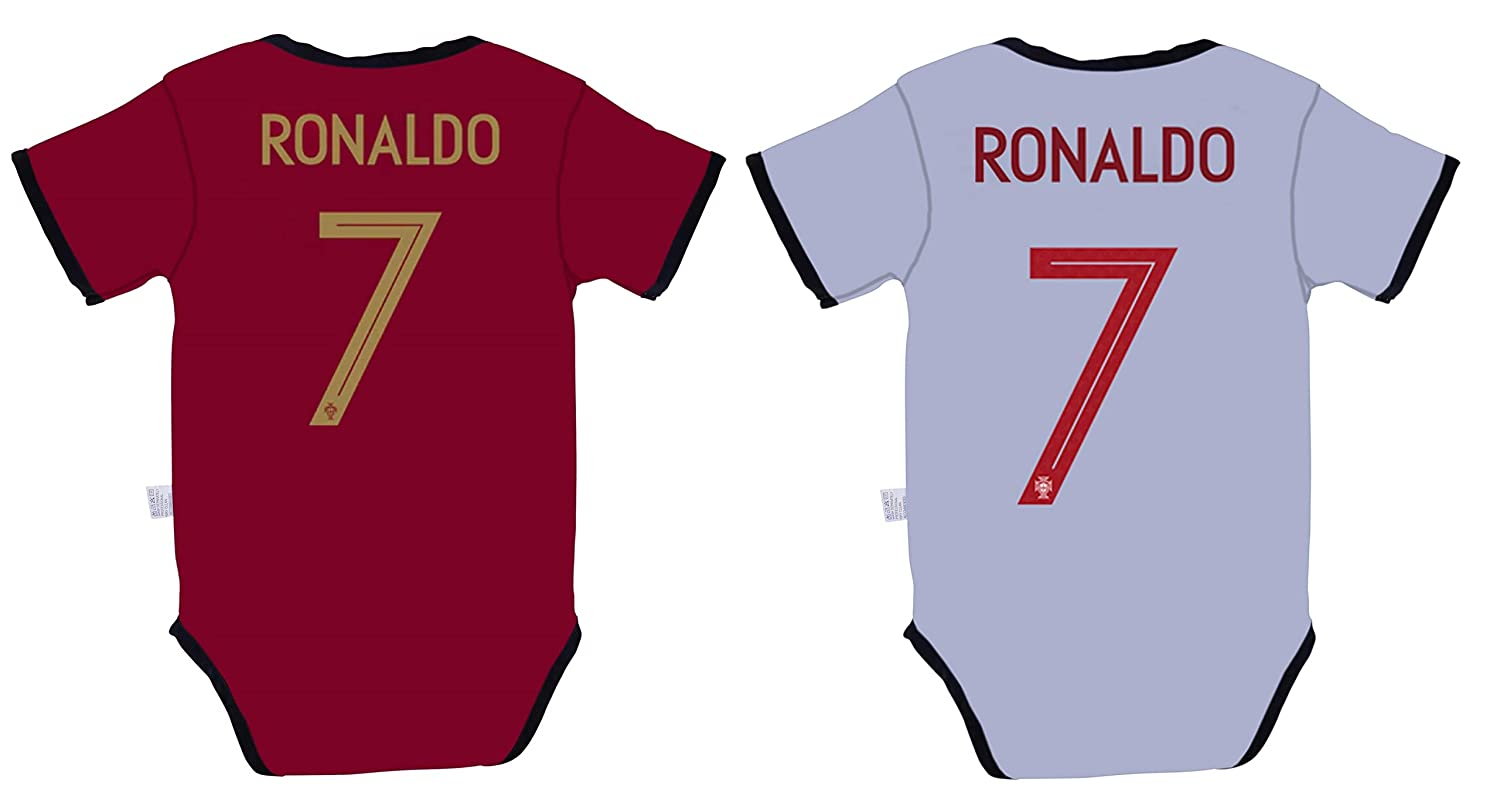 Amazon.com   Rhinox EKSport Cristiano Ronaldo  7 Portugal Soccer Jersey  Baby Infant and Toddler Onesie Romper Premium Quality - Home and Away PACK  OF 2 ... 1d2fab10e