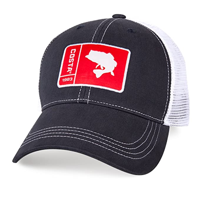 b9159344695 Image Unavailable. Image not available for. Color  Costa Del Mar Original  Patch Bass Trucker Hat-Navy