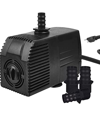 Simple Deluxe 400 GPH UL Listed Submersible Pump with 15' Cord, Water Pump  for Fish Tank, Hydroponics, Aquaponics, Fountains, Ponds, Statuary,