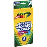 Crayola Ultra-Clean Washable Markers, Color Max, Fine Line Classic Colors 8 Ea (Pack of 3)