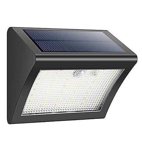 38 LEDs Luces solares Sensor de movimiento Luces de seguridad Inalámbrica impermeable Luces solares externas Luces