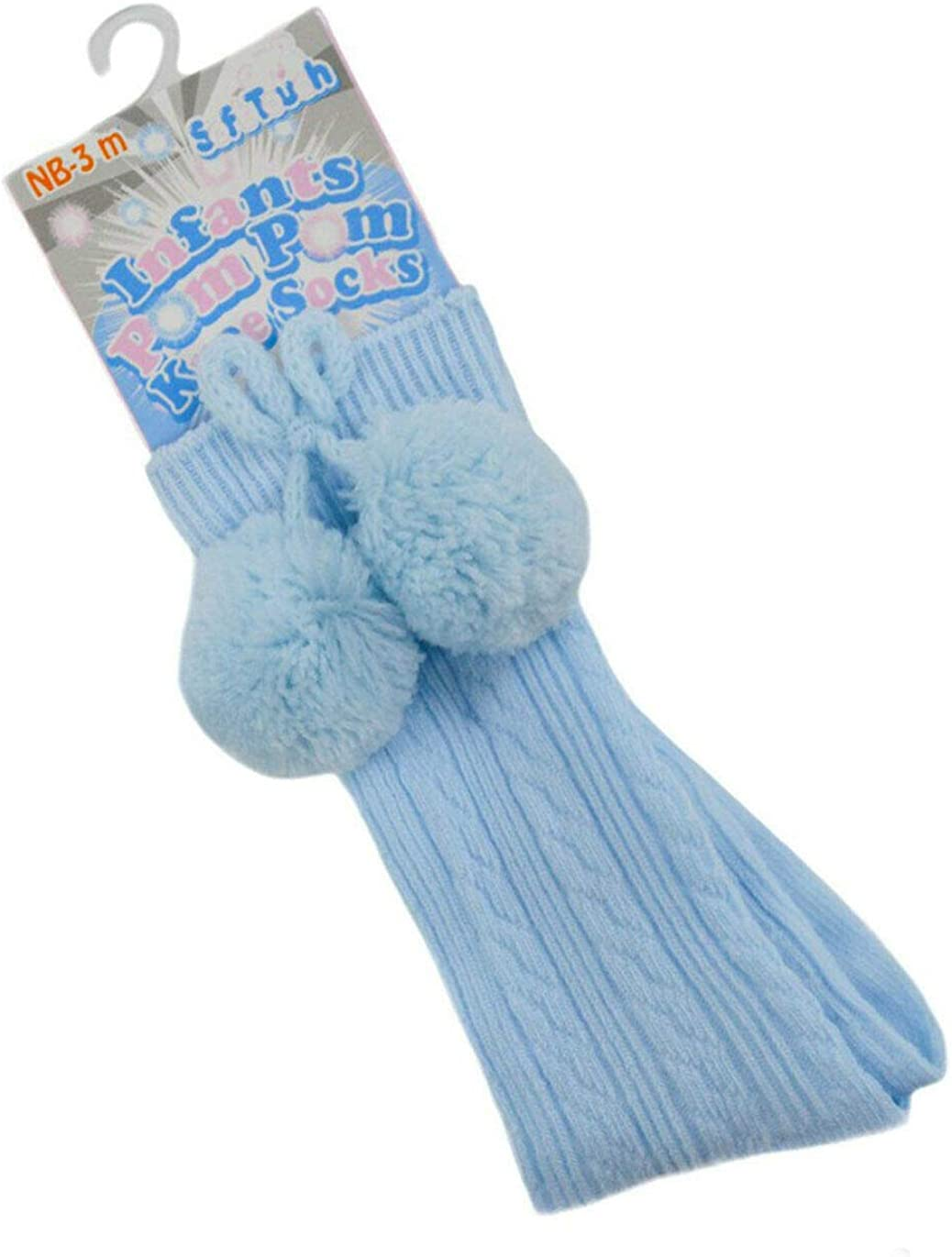 Baby Boys Girls 1 Pair Pom Pom Socks Spanish Romany Style Knee Length Stretch Socks Nb To 12 Months S47