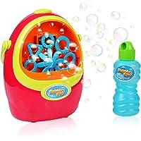 Shinehalo Máquina de Burbujas Soplador brillantede Burbujas Durable eléctrico Completamente automático incluida solución de Burbujas para
