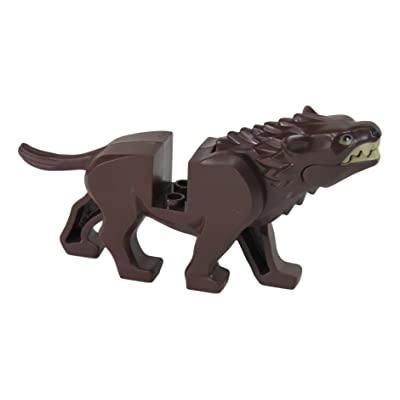 LEGO The Hobbit Brown Warg w/ Black Nose: Toys & Games