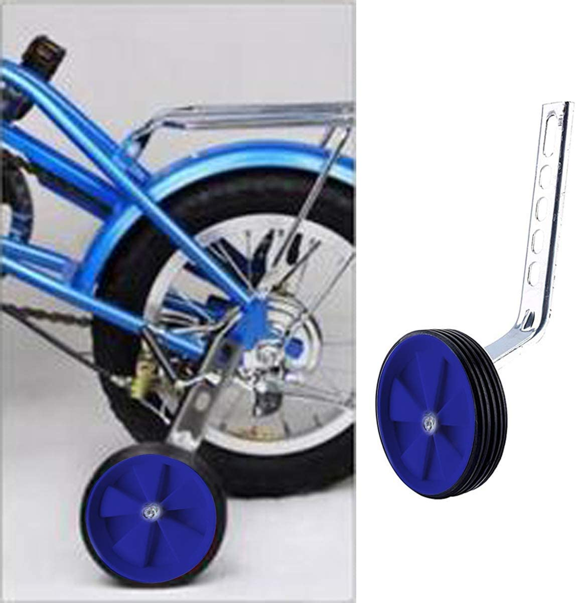 1 Pair Haploon Training Wheels,Bicycle Training Wheels Stronger Version Design,with Reinforced Metal Heavy Duty Rear Wheel for Kids Bikes of 12 14 16 18 20 Inch