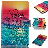 """Case for Fire 7 2015, FIREFISH [Kickstand] PU Leather Folding Stand Cover with TPU Double Protection Cover for Kindle Fire 7"""" Display 5th Generation -Dream"""