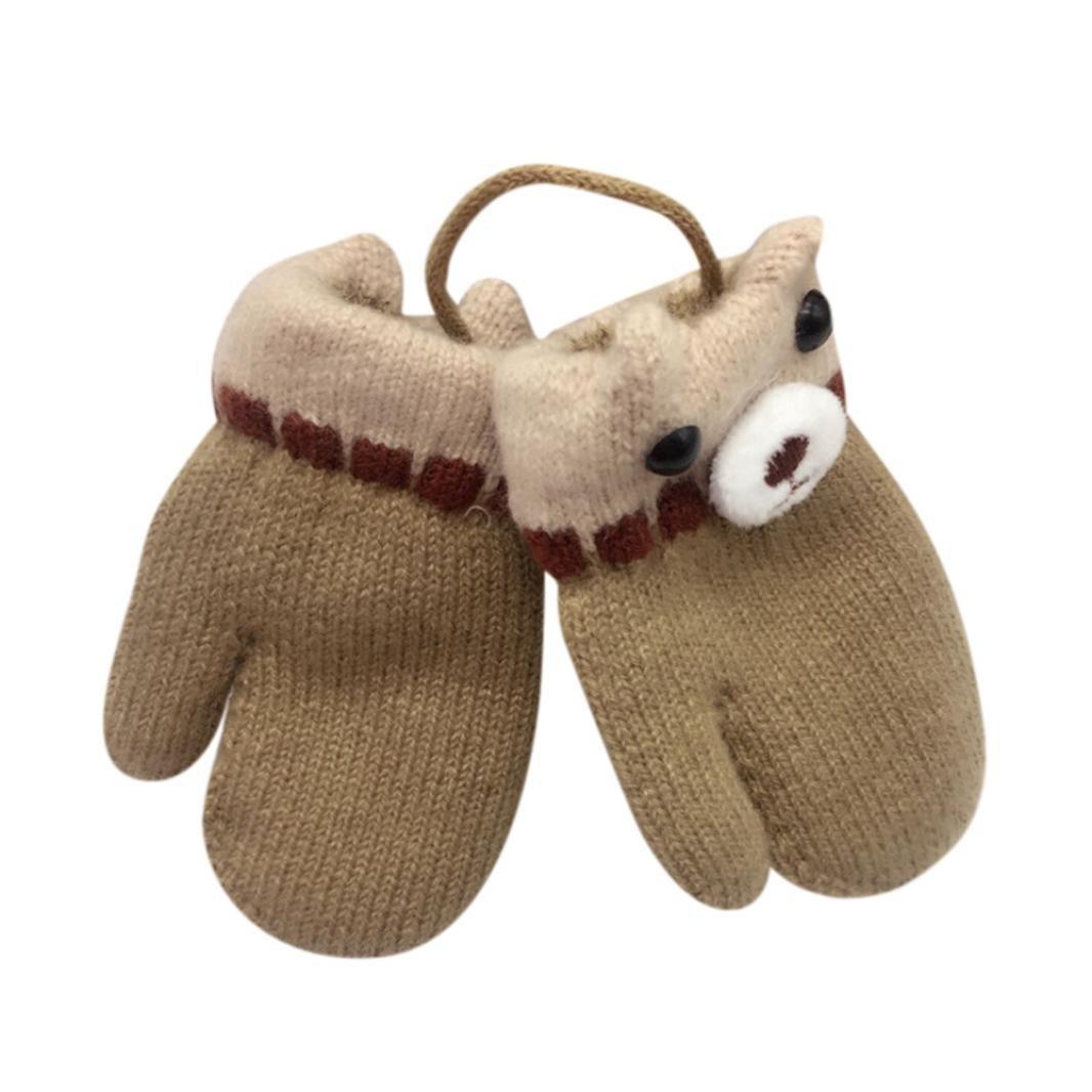 Palarn Cute Girls Boys Thicken Winter Warm Mittens Gloves 1-5T Toddler Baby Cartoon Gloves