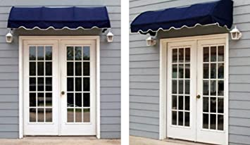 Quarter Round Window Awning Or Door Canopy 4 Wide In Sunbrella