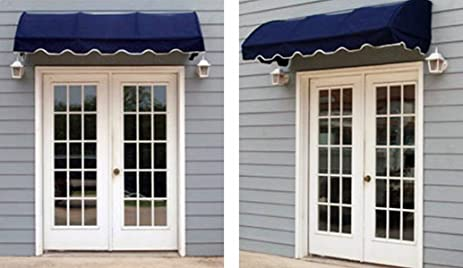 quarter round window awning or door canopy 4u0027 wide in sunbrella awning fabric burgundy