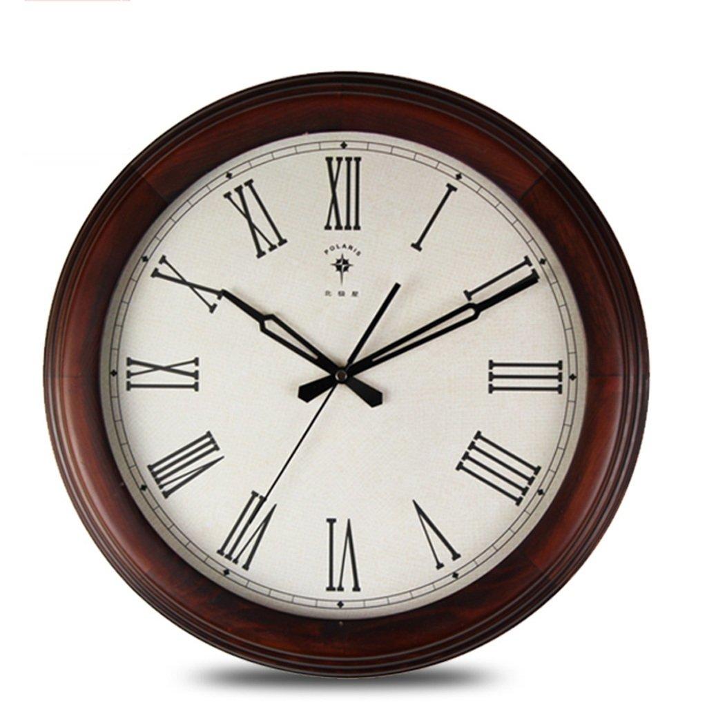 Unbekannt SESO UK- Entwerfen Sie Moderne Retro Uhr Wanduhr Stumm Quarz Runde hölzerne Uhren
