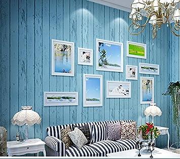 GS~LY Méditerranée orientale vêtements en bois rétro bleu ...