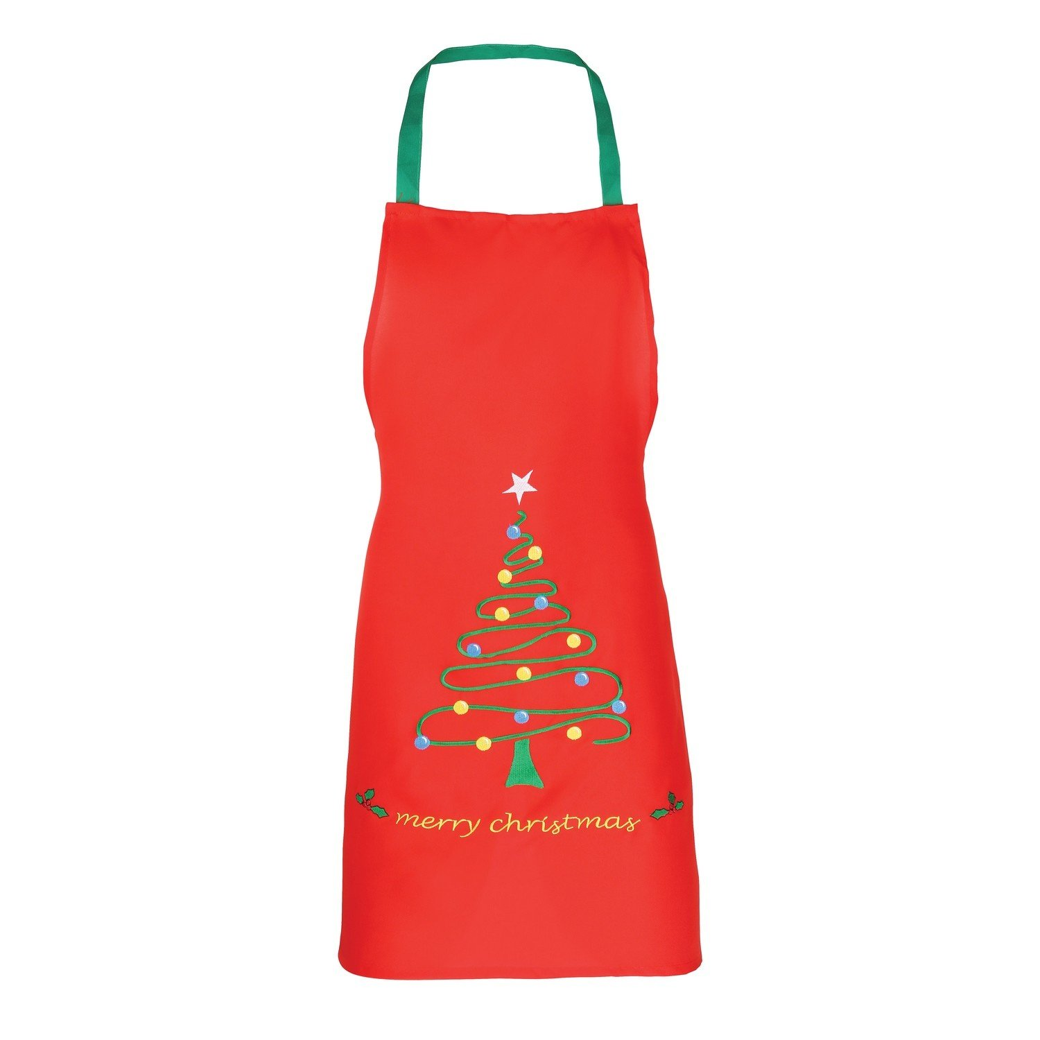 Christmas Shop Unisex Christmas Apron (2 Designs) (One Size) (Green Santa) UTRW3397_1