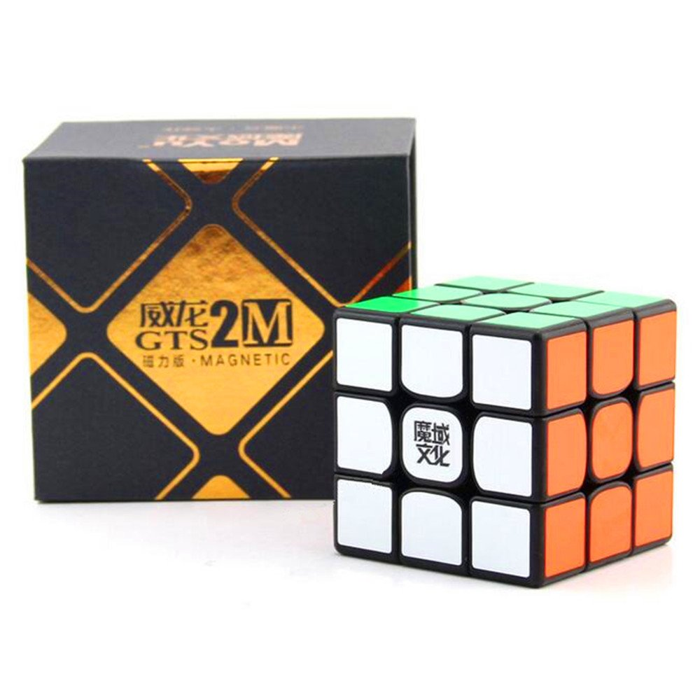CuberSpeed MoYu WeiLong GTS2 M Black 3x3 Magic Cube Magnetic MoYu WeiLong GTS V2 magnetic3x3x3 Speed Cube Puzzle