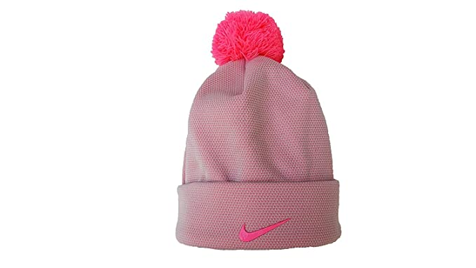 Amazon.com  Nike Girls Cuffed Pom Pom Beanie (7-16 Big Kids 05cf60dcd6e