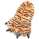 Millffy Funny Slippers Grizzly Bear Stuffed Animal Furry Claw Paw Slippers Toddlers, Kids & Adults Costume Footwear