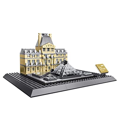 WANGE The Louvre of Paris-France Mini Model Building Blocks Bricks STEM Enginering Toy: Toys & Games