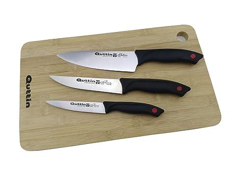 Compra Set 3 Cuchillos Delice Cocina QUTTIN con Tabla en ...
