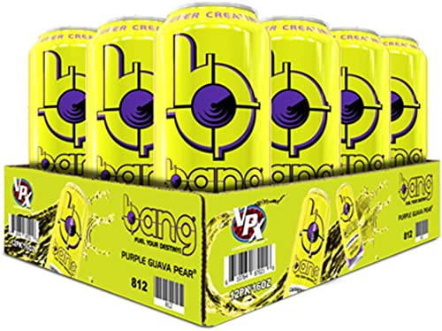 VPX Bang Caffeine Free Purple Guava Pear 12 per Case – 16 fl oz 1 PT 473 ml