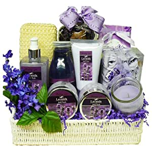Art of Appreciation Gift Baskets   Blissfully Relaxing Lavender Spa Bath and Body Set