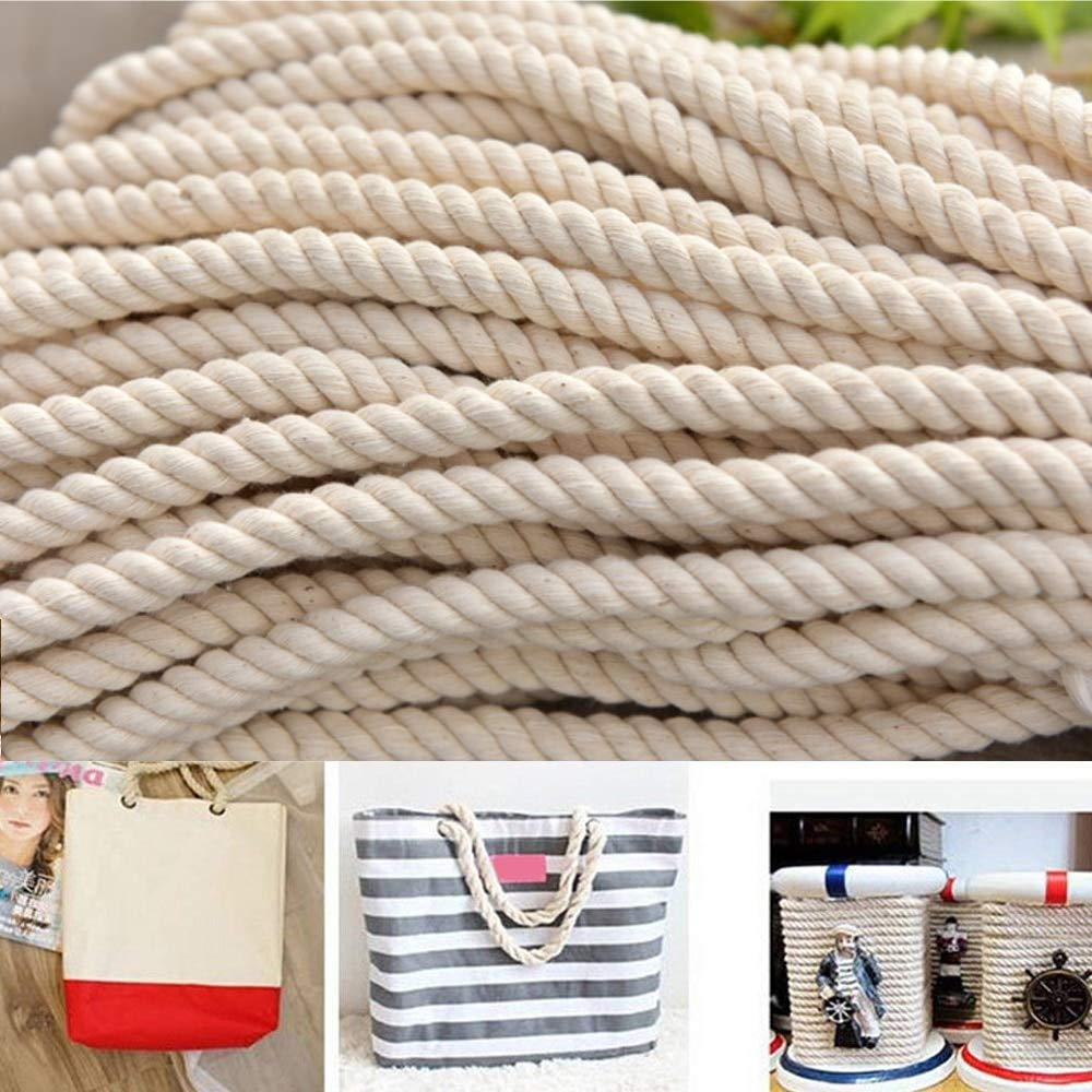 FINCOS Macrame Rope Natural Cotton DIY Craft Cord Spool 8mm x 50meters by FINCOS (Image #2)