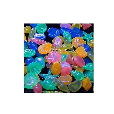 KAIMENG Piedras brillantes para acuario (60 unidades)