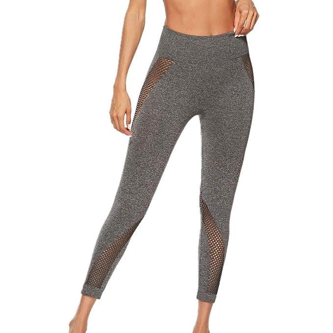 SXZG Leggings Deportivos para Mujer Hueco Hueco Yoga Cadera ...