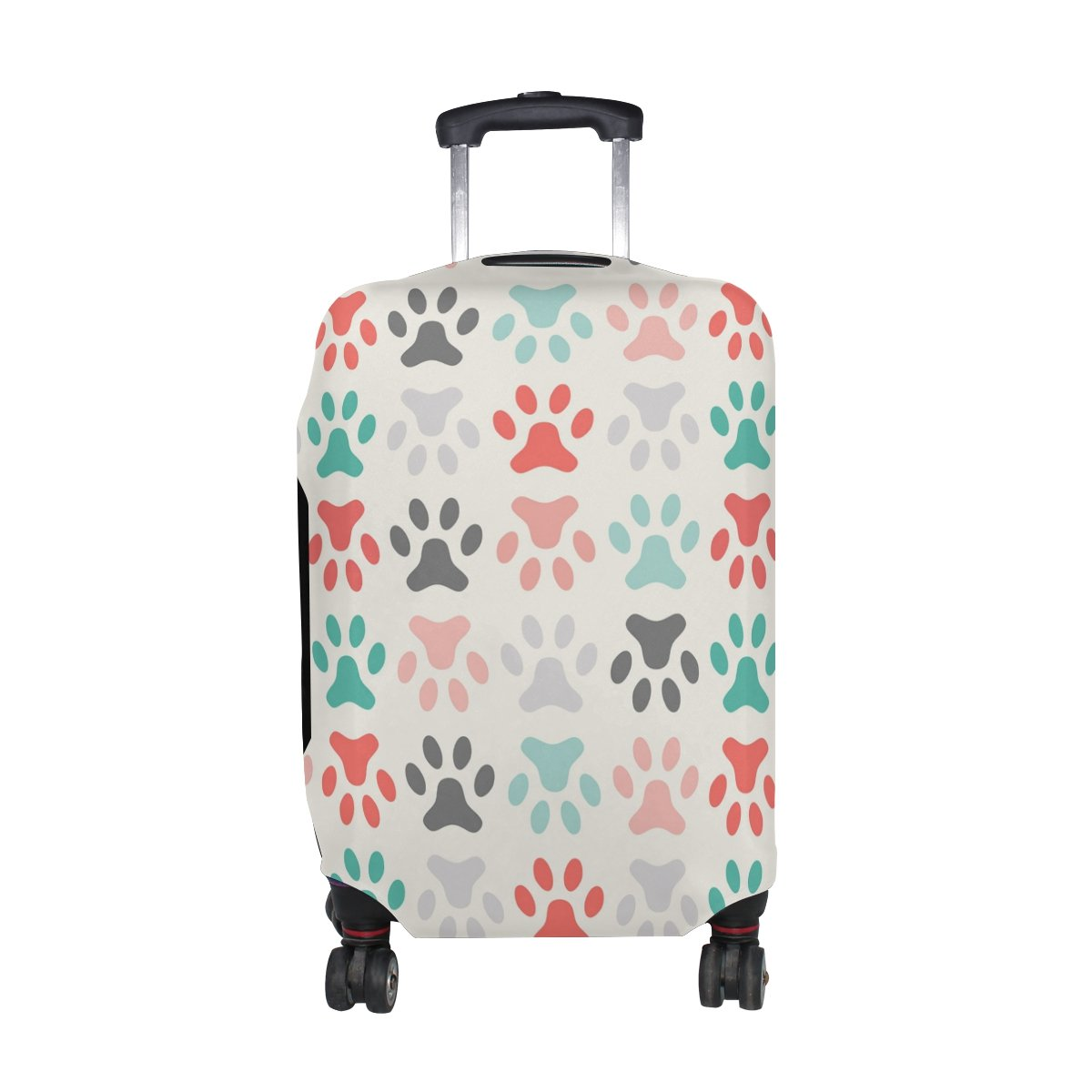 LAVOVO Cat Or Dog Paws Footprints Luggage Cover Suitcase Protector Carry On Covers