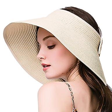 limited guantity offer discounts cheap Leisial Femme Visière Serre-tête de paille Anti-soleil ...